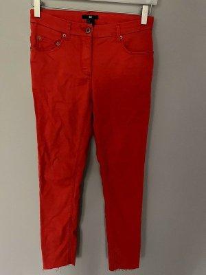 H&M Jeansy 7/8 czerwony-jasnoczerwony Bawełna