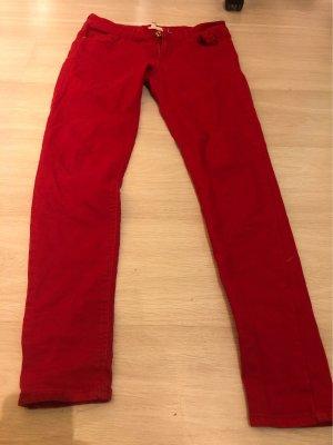 Mango Jeansy ze stretchu czerwony