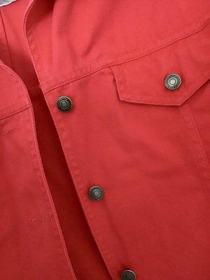 H&M Giacca denim rosso Cotone