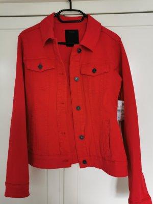 Yessica Veste en jean rouge