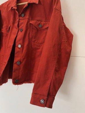Rote Jeansjacke Noisy May