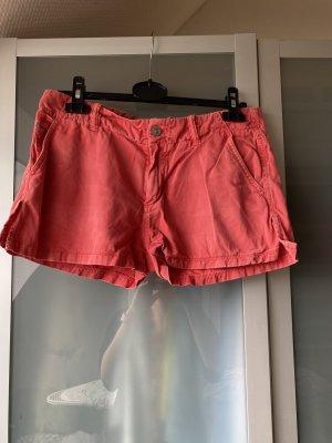 Diesel Pantalón corto de tela vaquera rojo
