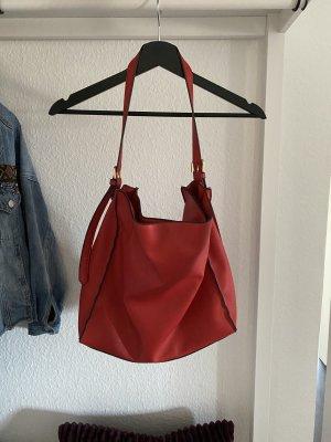 Rote justfab Handtasche