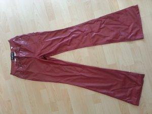 Rote Kunstlederhose Gr. W 28 L 34