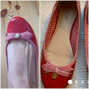 Tamaris Patent Leather Ballerinas red