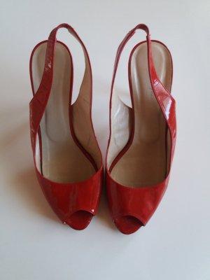 Rote Lackschuhe Gr. 38 von Vigneron