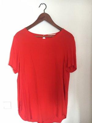 Rote lange Bluse