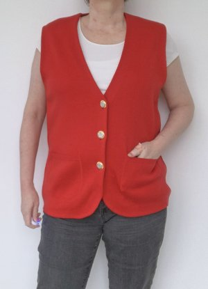 Knitted Vest red wool