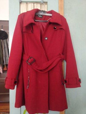 C&A OUTERWEAR Długa kurtka ciemnoczerwony