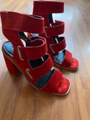 Rote Leder Sandale