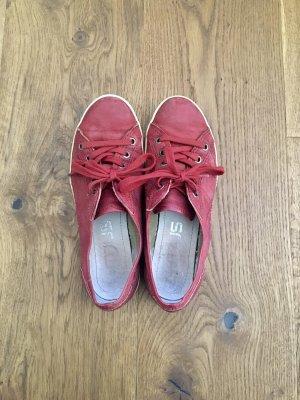 Rote Leder Sneakers MJUS