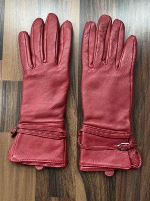 H&M Leren handschoenen rood