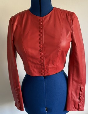 Ashley Brooke Leather Jacket red leather