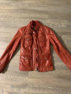 Rote Lederjacke Gr. 36