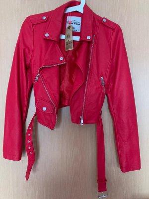 Rote Lederjacke *mit Etikett, nie getragen*