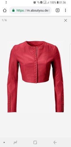 Rote Lederjacke von Ashley Brooke
