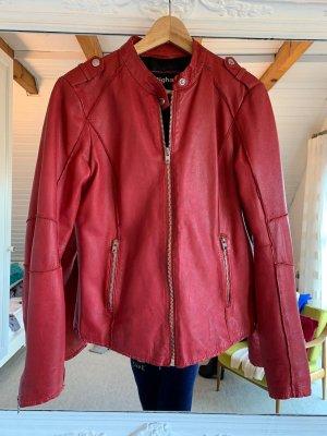 Rote Lederjacke von Tigha