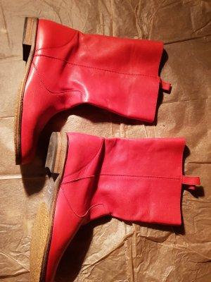 Rote Lederstiefel TOP Gr 40