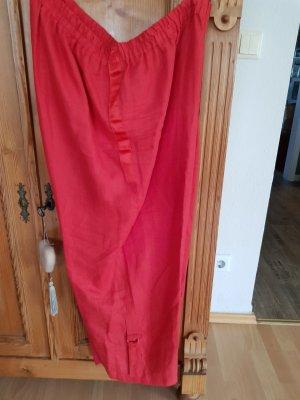 Rote Leinenhose Gr. 48