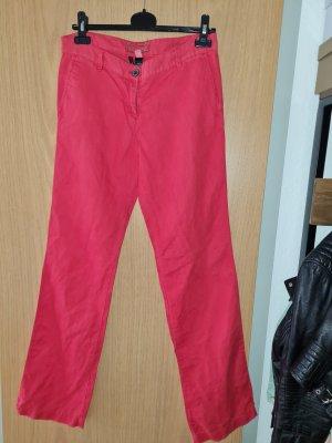 Rote Leinenhose in Größe 38