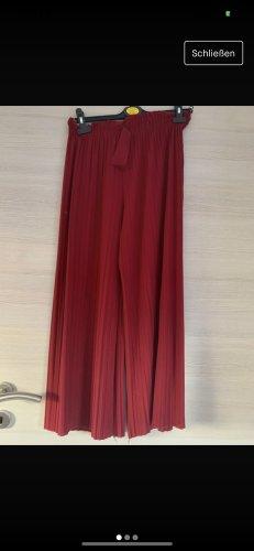 Pantalon pattes d'éléphant rouge foncé