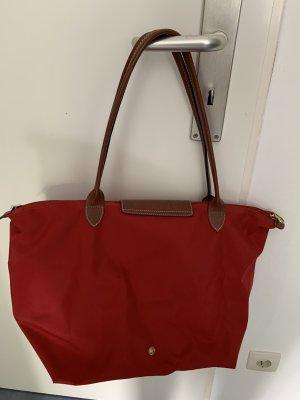Rote Longchamp Tasche