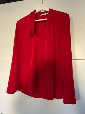Rote Mango Suit Bluse in Seidenoptik