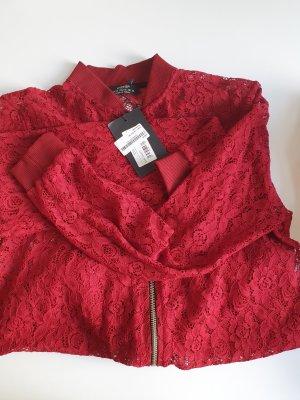 Shirt Jacket dark red