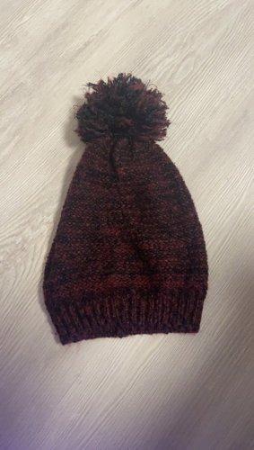 C&A Cappello a maglia bordeaux