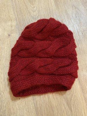Knitted Hat dark red