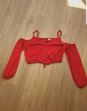H&M Top asymétrique rouge