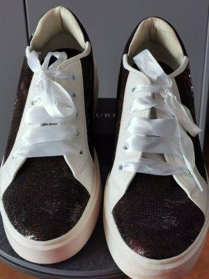 Rote Pailletten Sneaker von Geox, Neuwert 114,95
