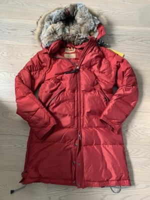Rote Parajumpers in Small mit Pelz