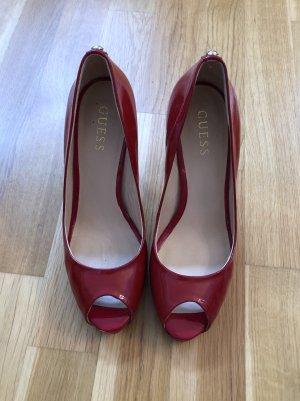 Rote Peeptoes von Guess, Größe 39