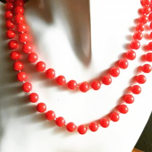 Pearl Necklace red