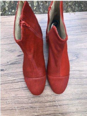 Bimba & Lola Zipper Booties multicolored leather