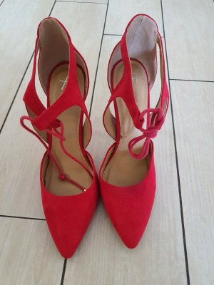 AF Zapatos de punta rojo ladrillo