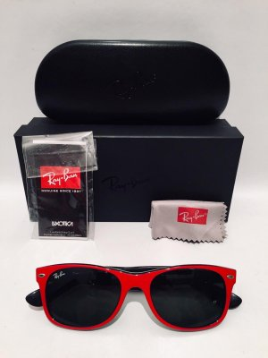 Ray Ban Retro Glasses black-red