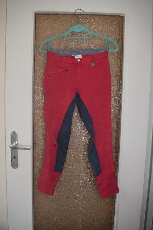 ELT Pantalon d'équitation rouge-bleu foncé