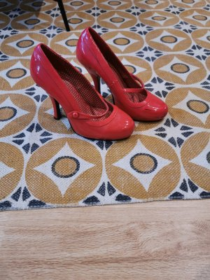 Pin Up Couture Buty na platformie czerwony-ceglasty