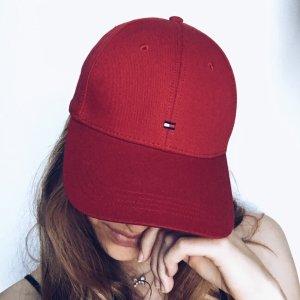 Rote Romy Hilfiger baseball Kappe