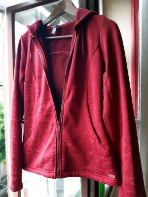 Rote Samt Kapuzenjacke aus Fleece von Bench