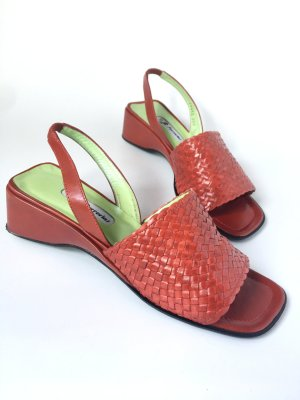 Comfort Sandals red leather