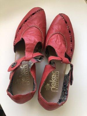 Rieker Sandalo comodo rosso scuro