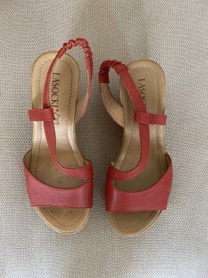 Rote Sandalen aus Leder Gr.36