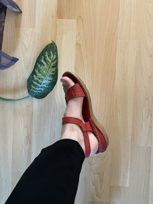Rote Sandalen echt Leder 38 Antishock Consuelo