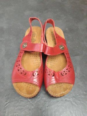 Rote Sandalen Neu gr. 38 Echtes Leder