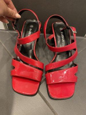 Rote Sandaletten Lack