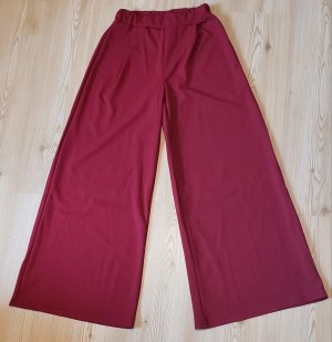 Colloseum Pantalón de campana rojo oscuro