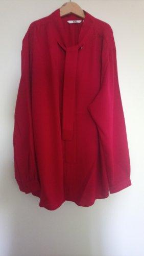 Uniqlo Blouse avec noeuds rouge